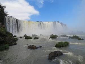 Impressive amounts of water at the Iguazu falls, another natural wonder