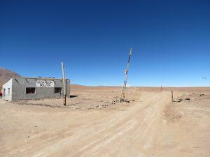 De grens met Bolivië aan San Pedro de Atacama