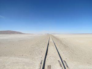De spoorweg tussen Bolivië en Chili