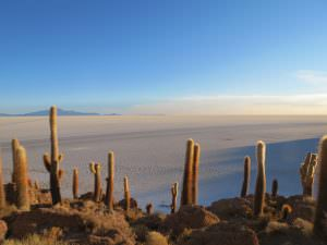 Sunrise on the Uyuni Salt Flat