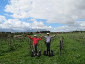 Segway in Spier through the vineyards