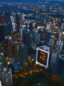 Kuala lumpur by night from KL Tower, Malaysia