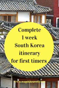 7 days South Korea itinerary