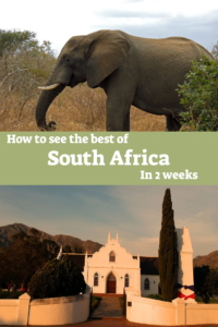 South Africa itinerary 2 weeks