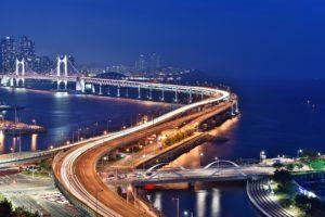 Diamond Bridge Gwangandaegyo Bridge Busan at night