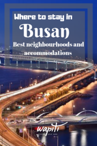 Best place to stay in Busan