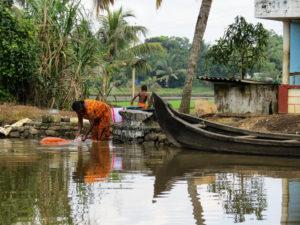 Daily life backwaters, Kumarakom, India