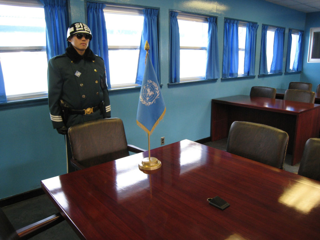 Inside the JSA buildings DMZ, South_Korea