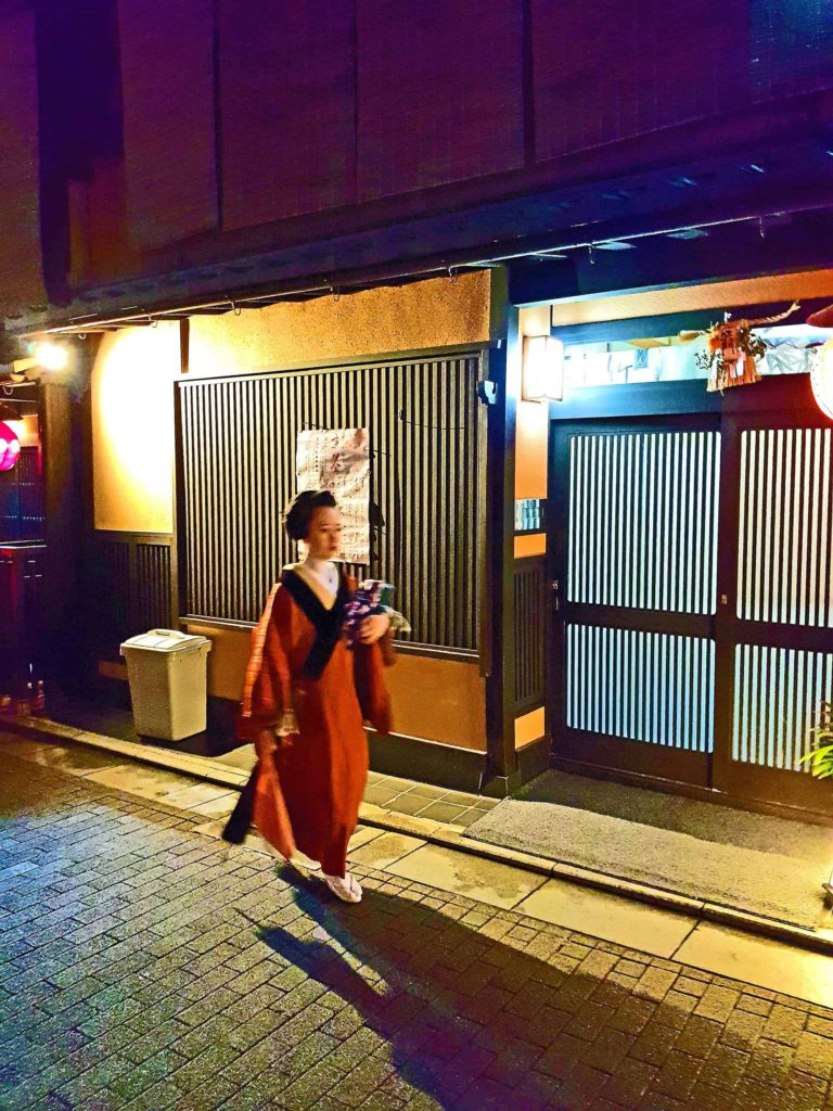Geisha Walking, Kyoto, Japan