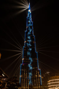 Burj Khalifa light show, Dubai