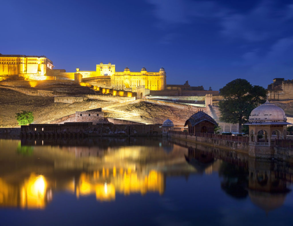 Amer fort at night, Jaipur, India