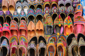 Indian bazaar Joothis Jaipur, India