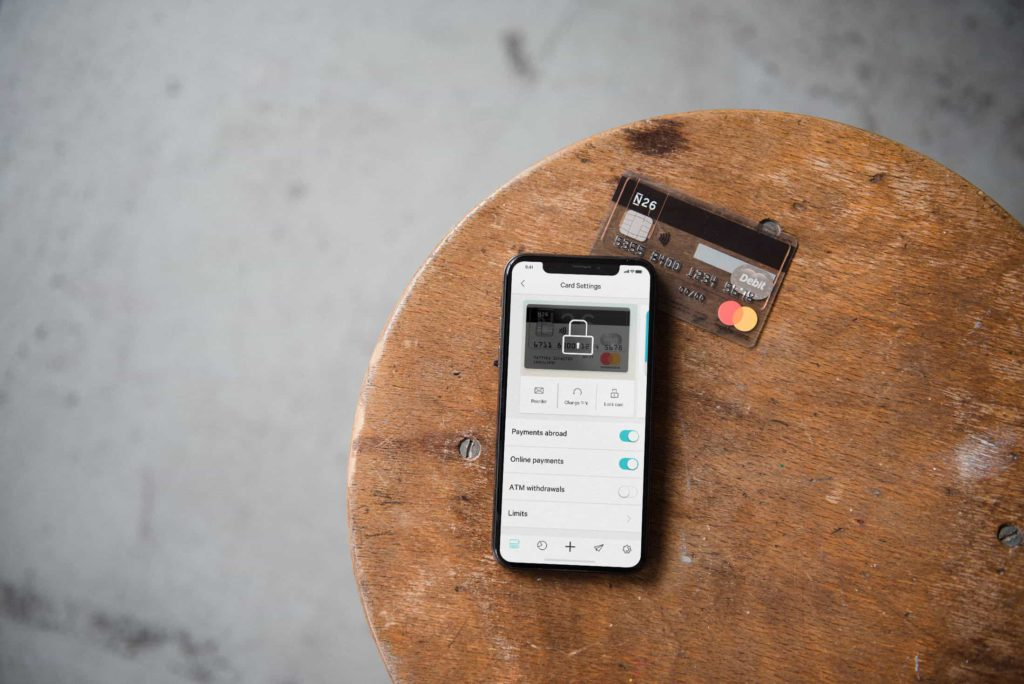 N26 Standard Card Settings