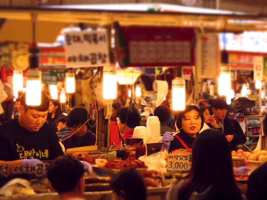 Seoul, Gwangjang market, South Korea