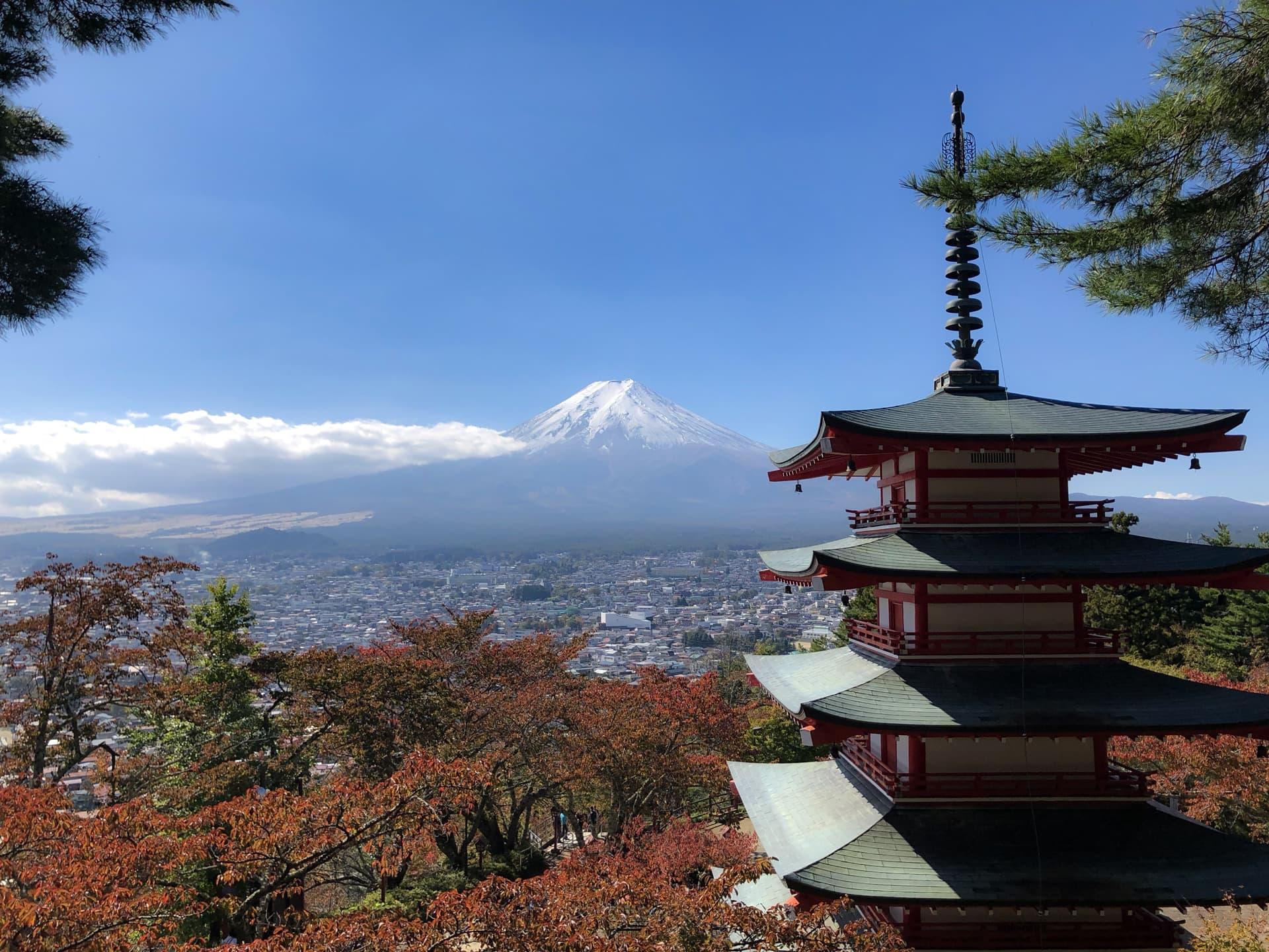 Chureito Pagoda Mt. Fuji Japan