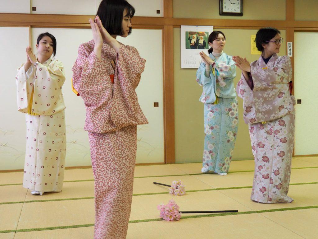Japan dancing lesson