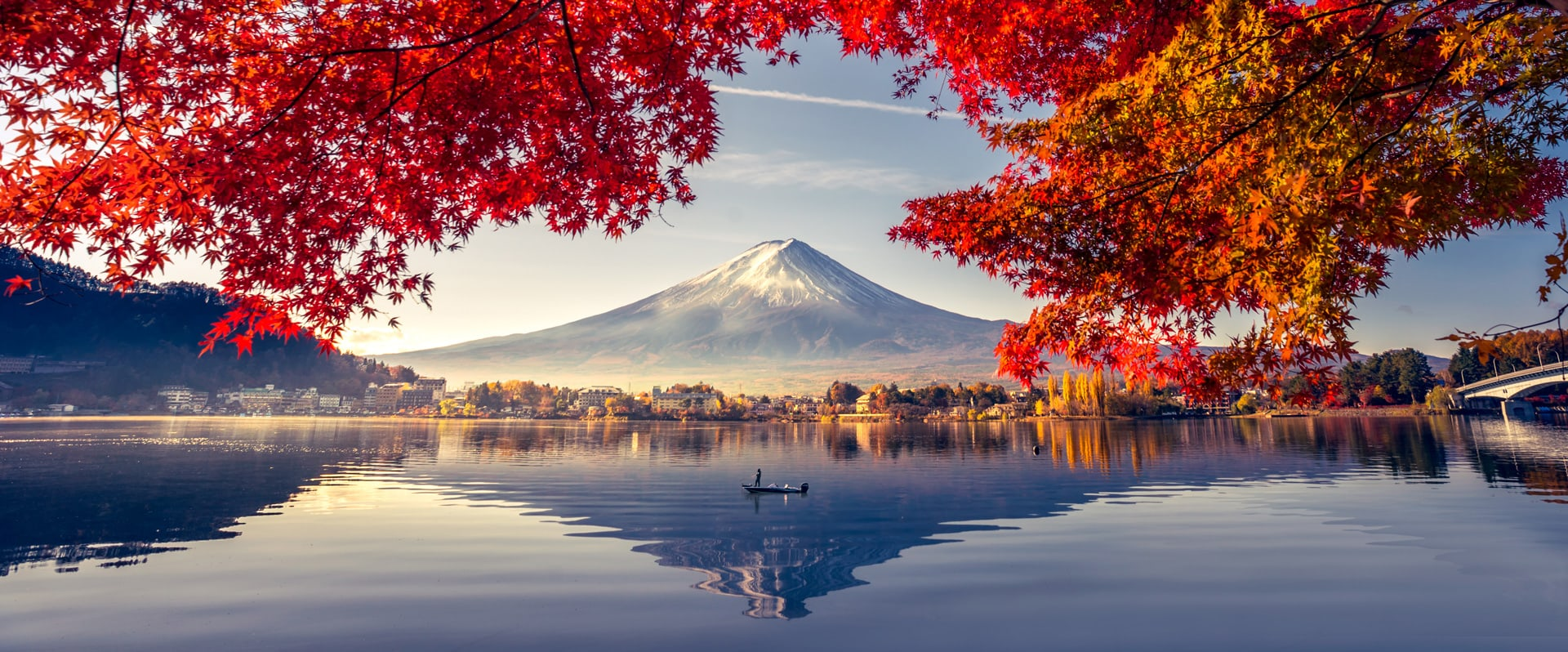 Lake Kawaguchiko Fall Colors Mt. Fuji Japan