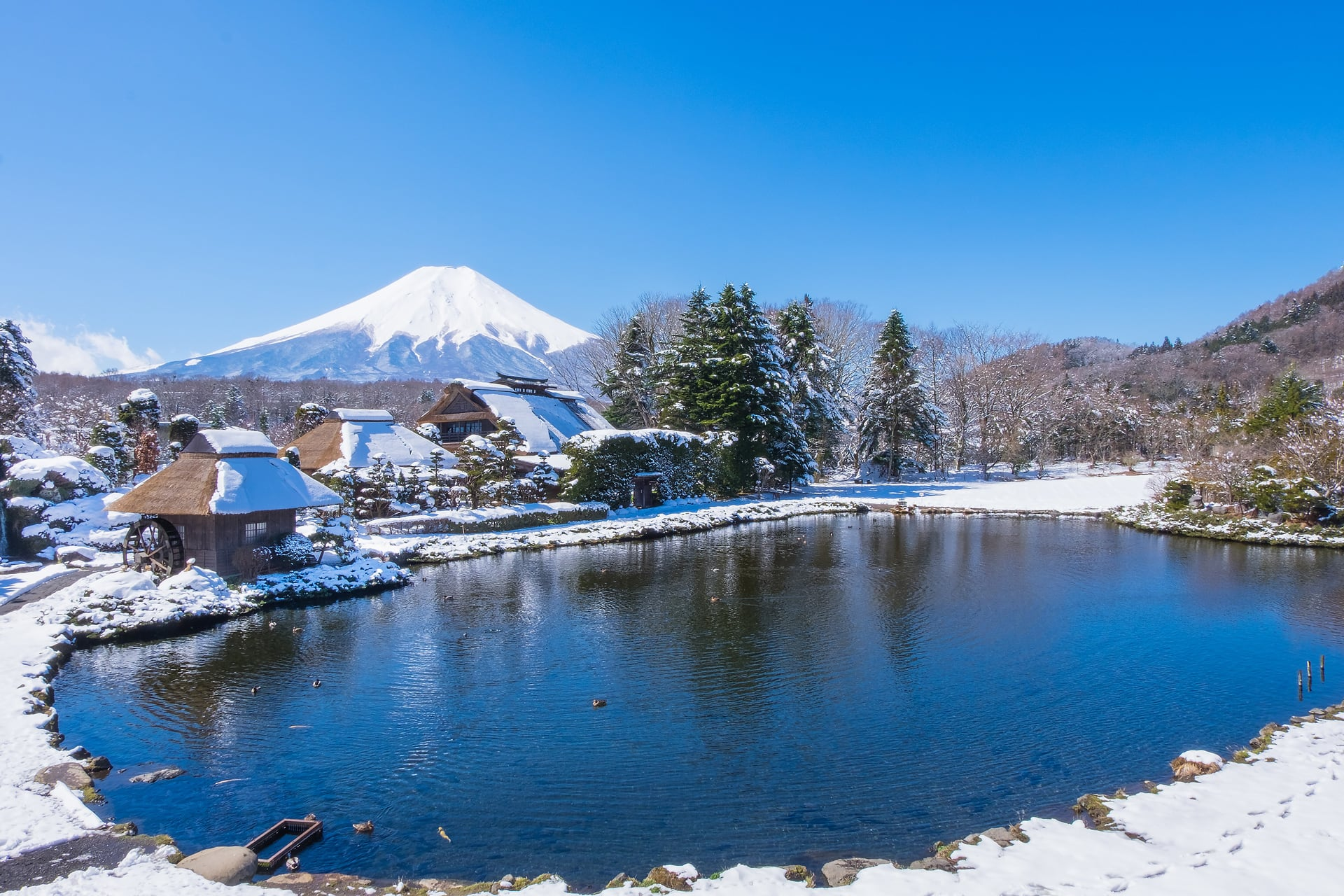 Oshino Hakkai Village Mt. Fuji Japan