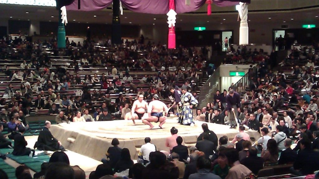 Sumo wrestling tournament Japan