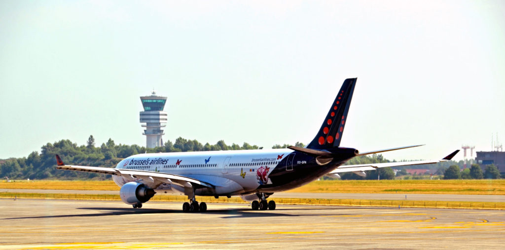 Brussels Airlines vliegtuig