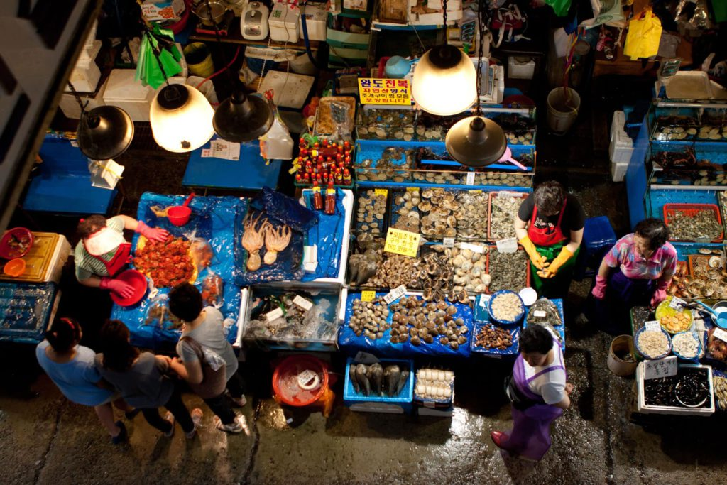 Noryangjin Fish Market Seoul South Korea