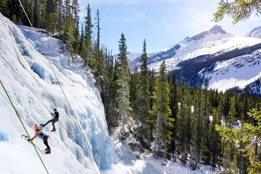 ice climbing Jasper Canada