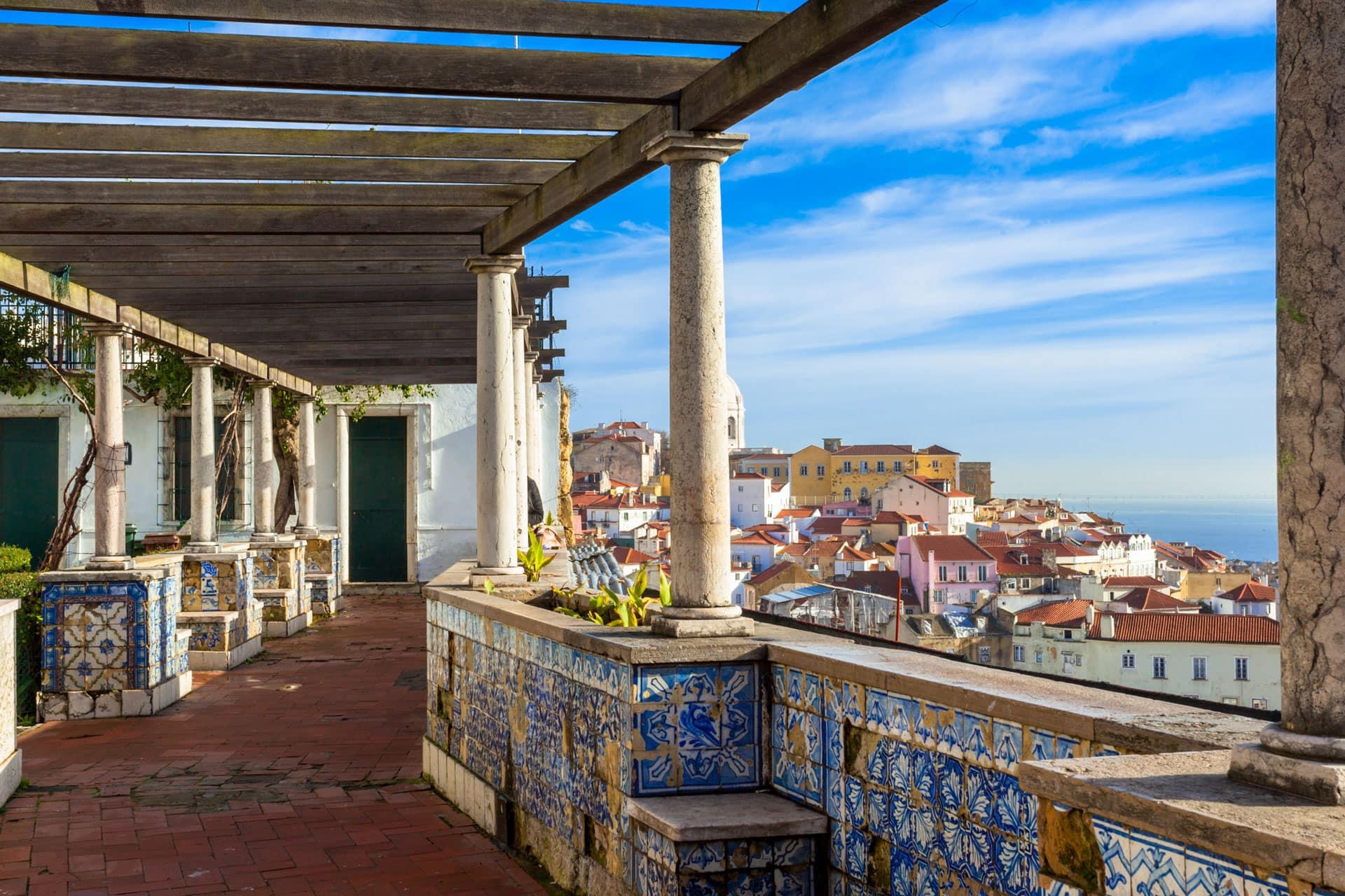 Miradouro de Santa Luzia Lisbon Portugal