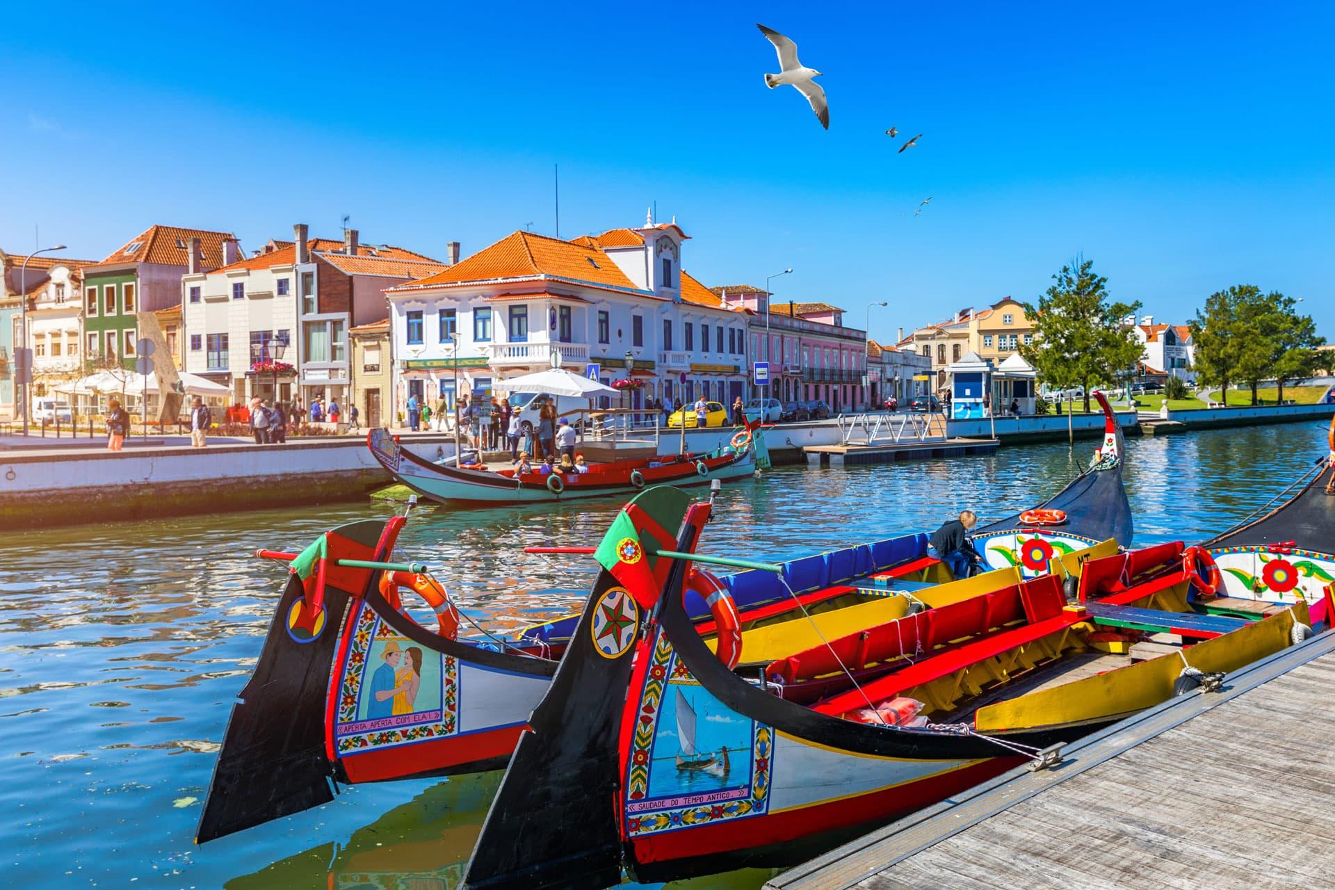 Moliceiro boat Aveiro Portugal