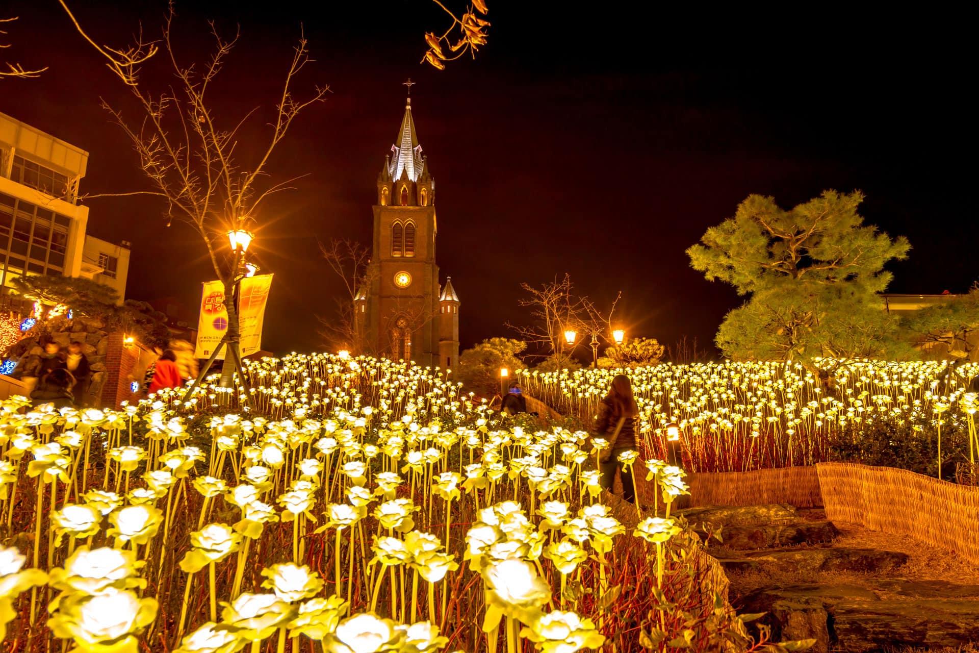 Myeongdong Catholic Cathedral Seoul South Korea