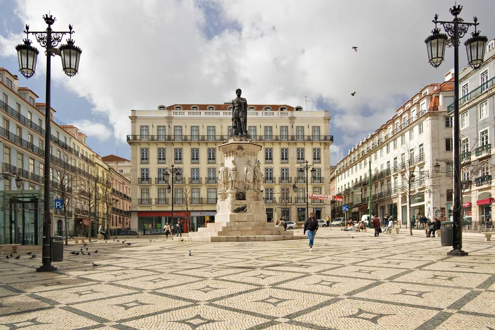 Praça Luís de Camões Lisbon Portugal