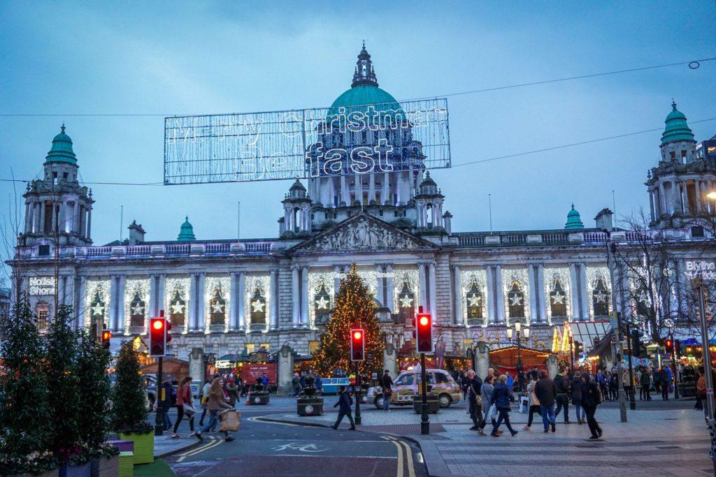 Belfast Northern Ireland Christmas Market.