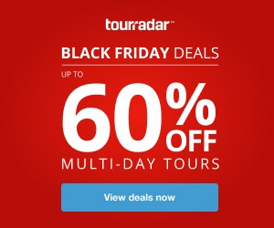 Black Friday promotion Tourradar