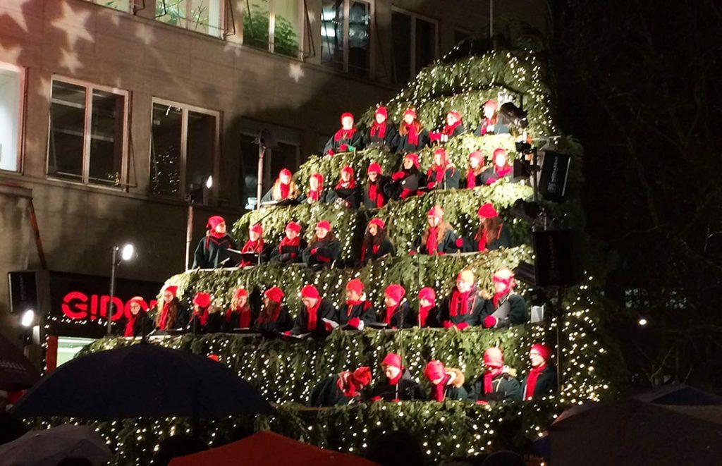Zurich Switzerland Singing Christmas Tree