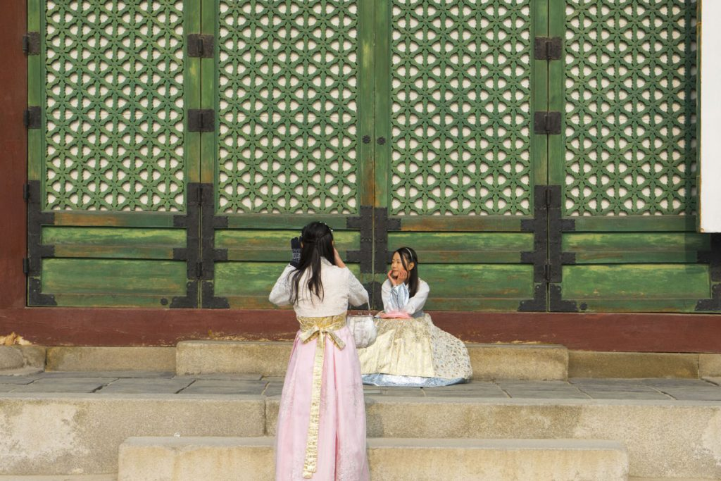 Hanbok picture Palace South Korea
