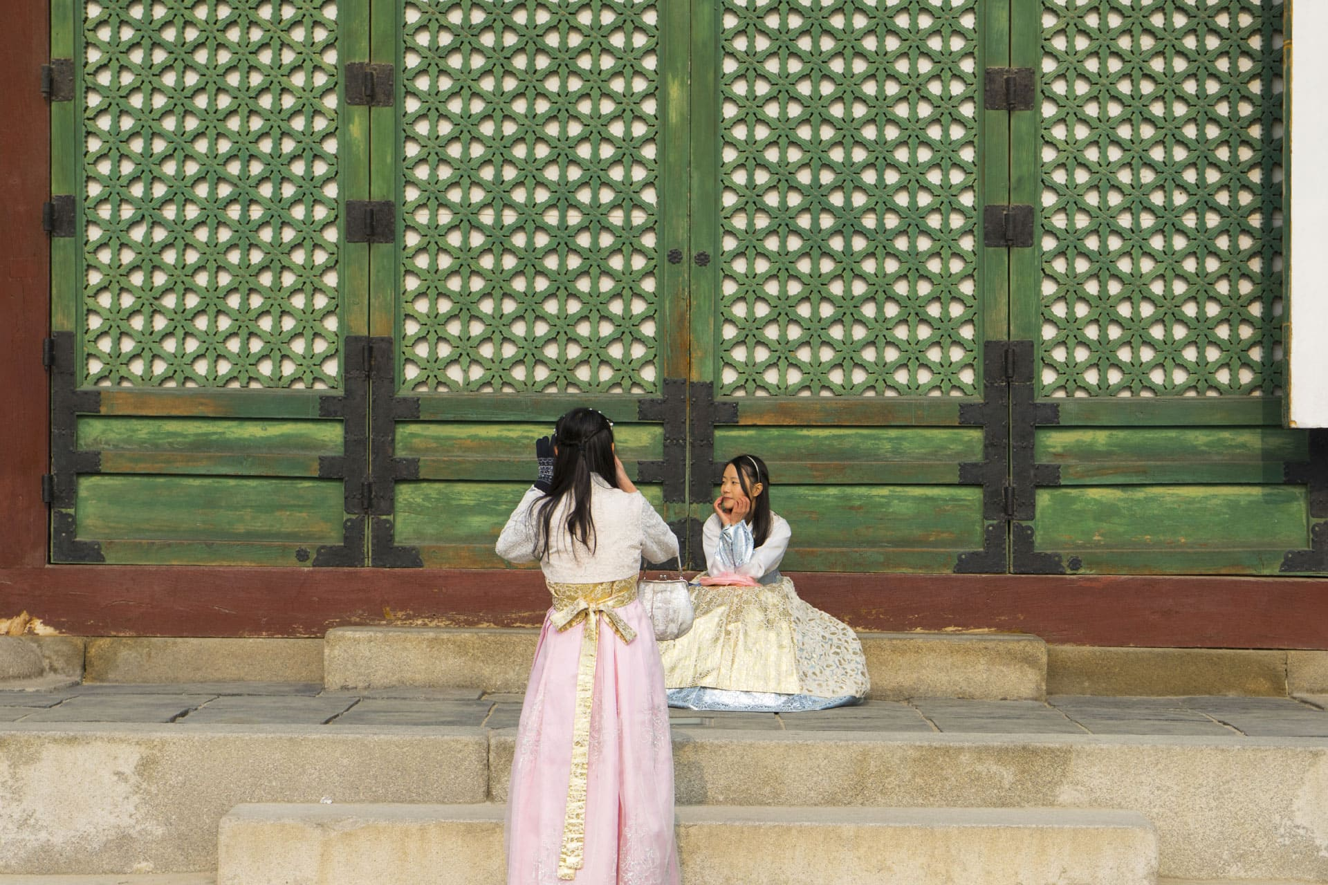 Hanbok picture Palace South Korea