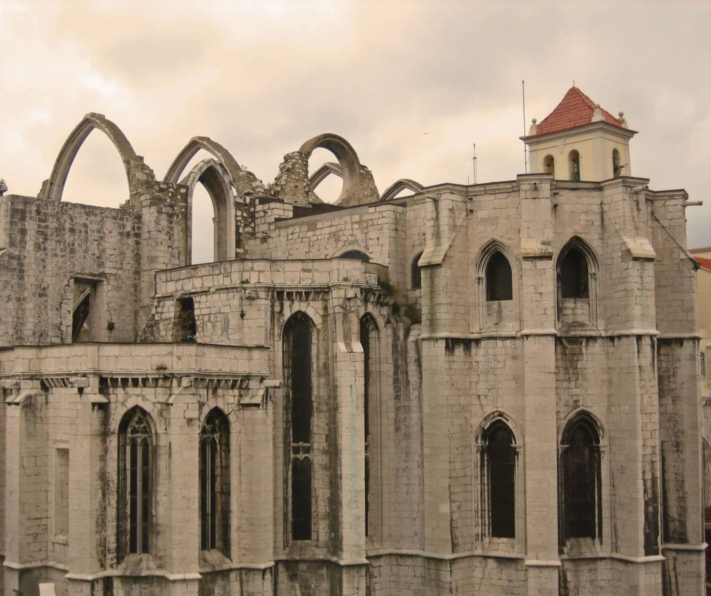 Carmo church ruines Lisbon, Portugal