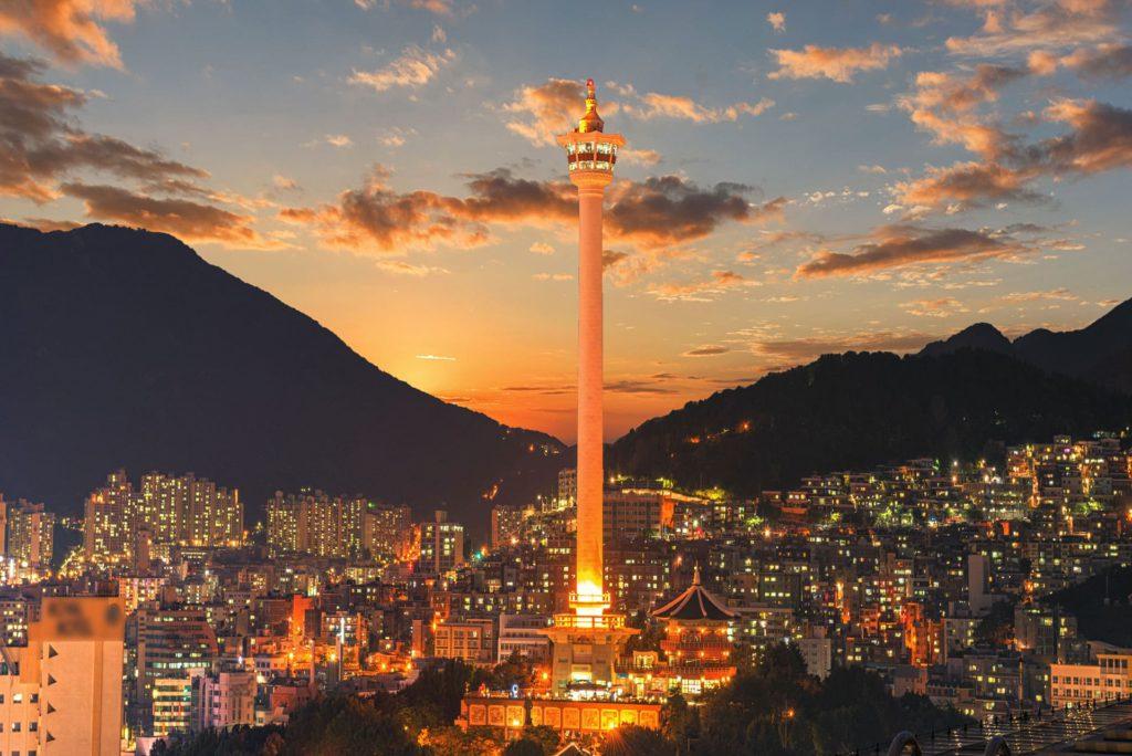 Busan city skyline South Korea