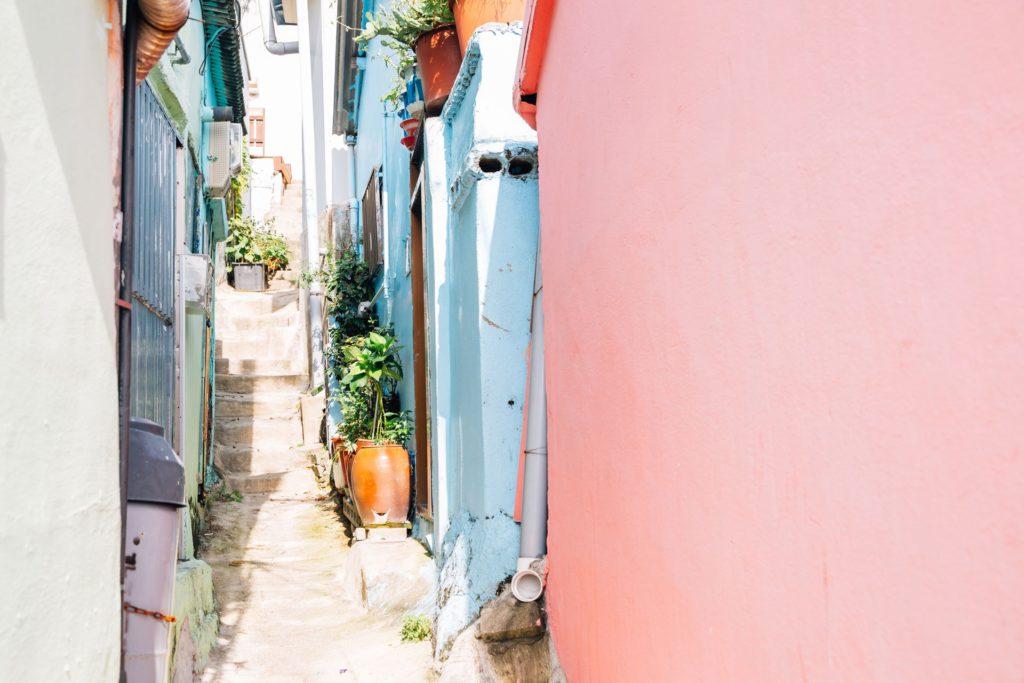 Gamcheon Cultural Village Colorful alleys Busan South Korea