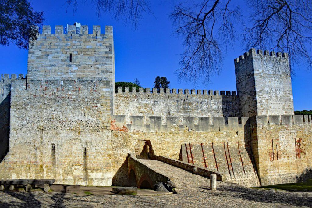 Sao Jorge Castle Entrance Lisbon Portugal