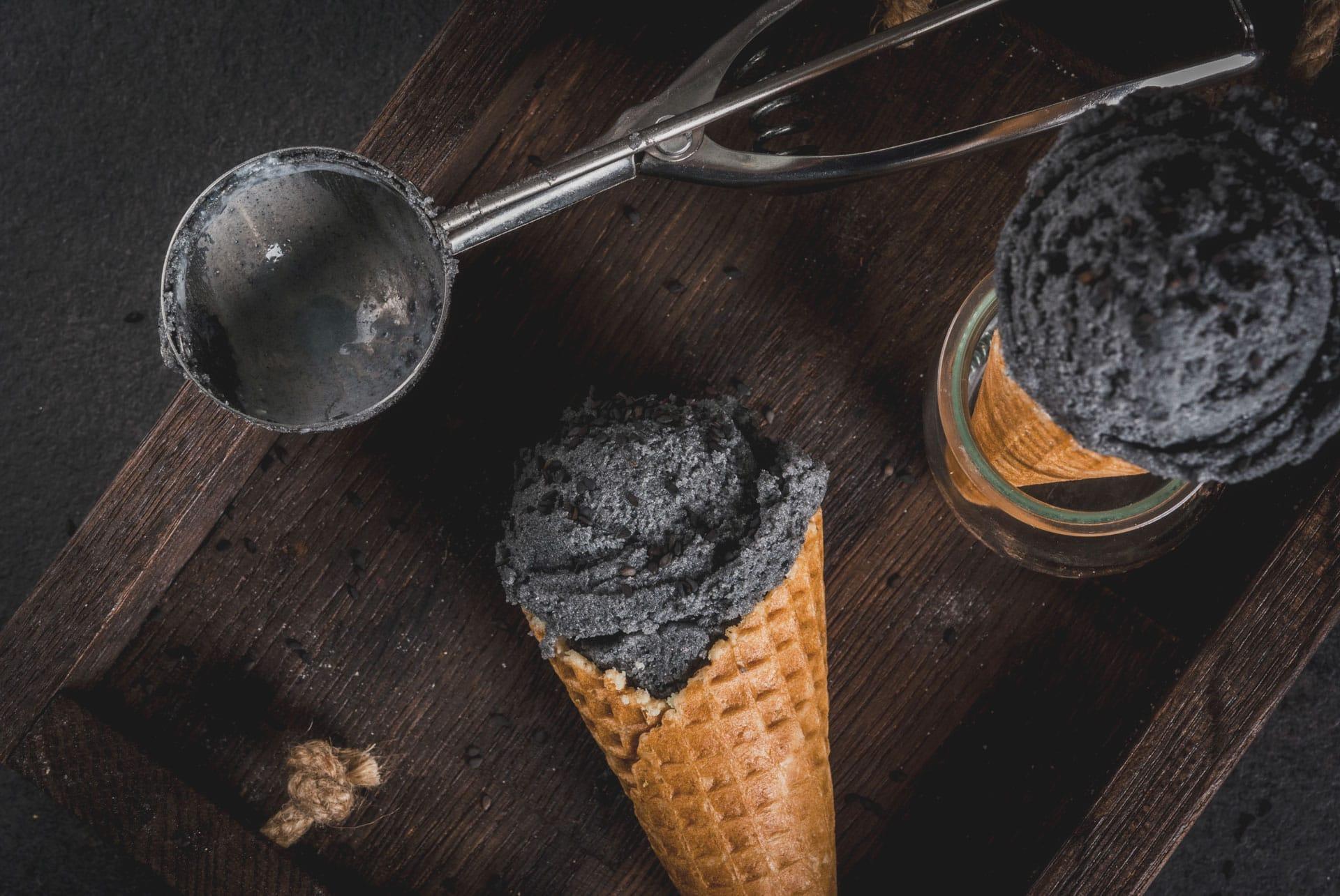 Black Sesame Ice cream Japanese desert
