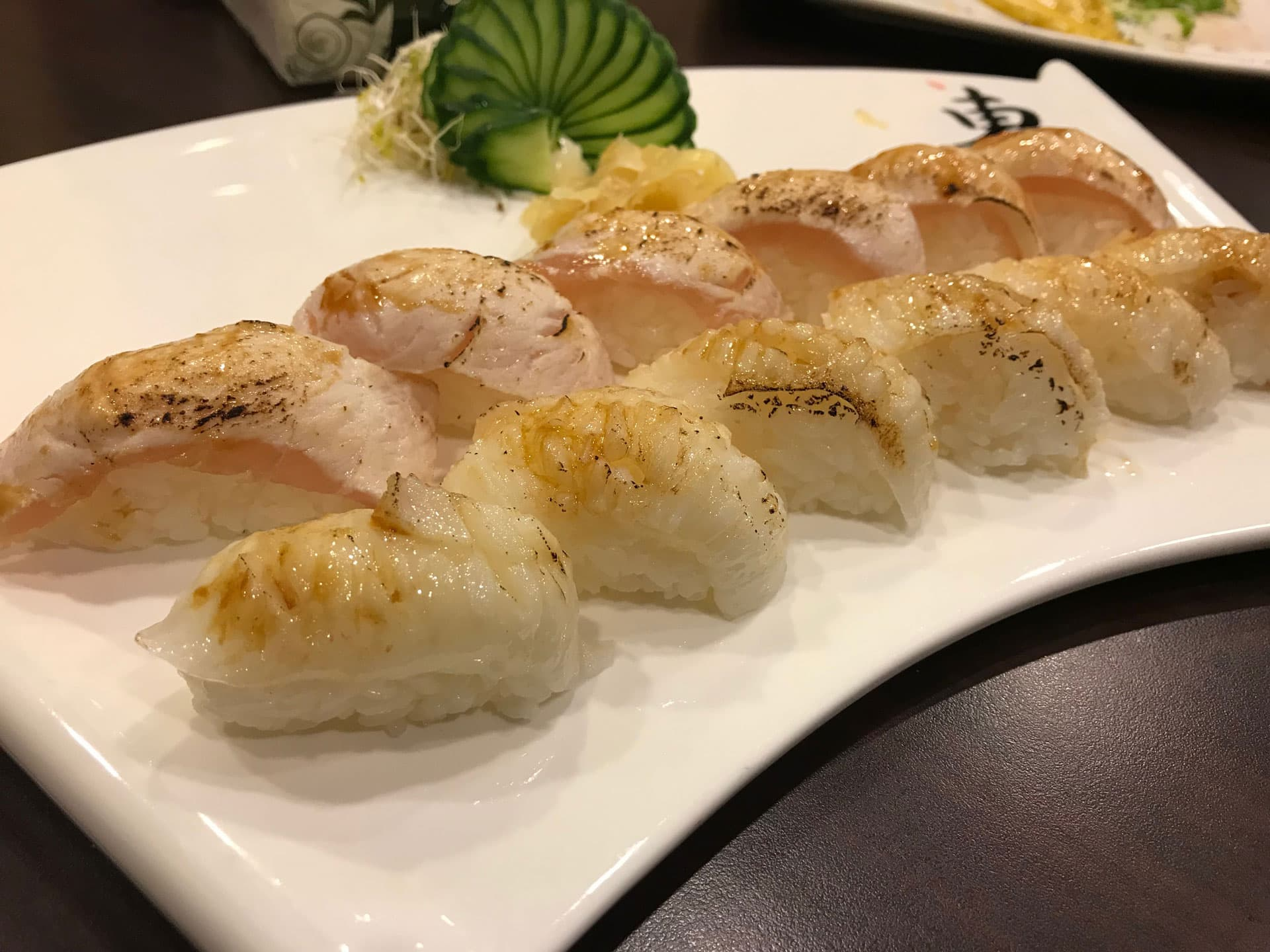 Nigiri sushi healthy Japanese food