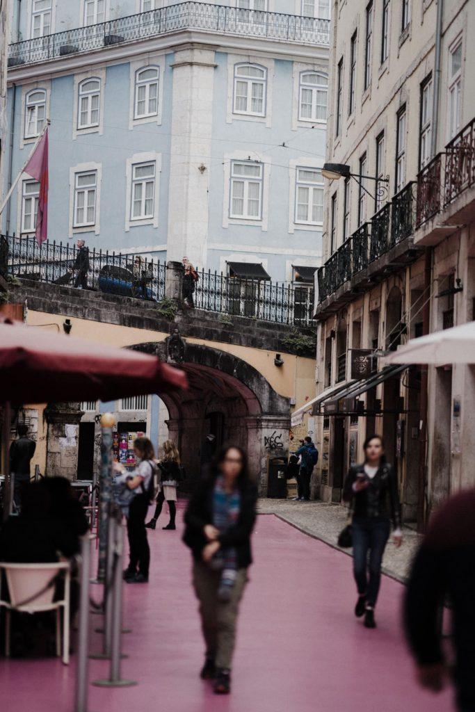 Pink Street Lisbon, Portugal