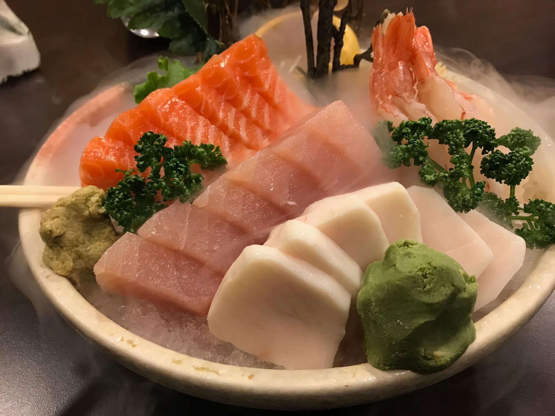 Sashimi healthy Japanese food