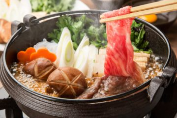 Sukiyaka healthy Japanese food