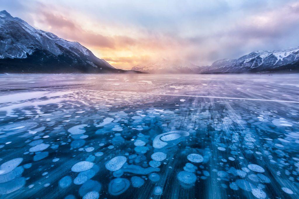 Abraham lake Alberta Canada