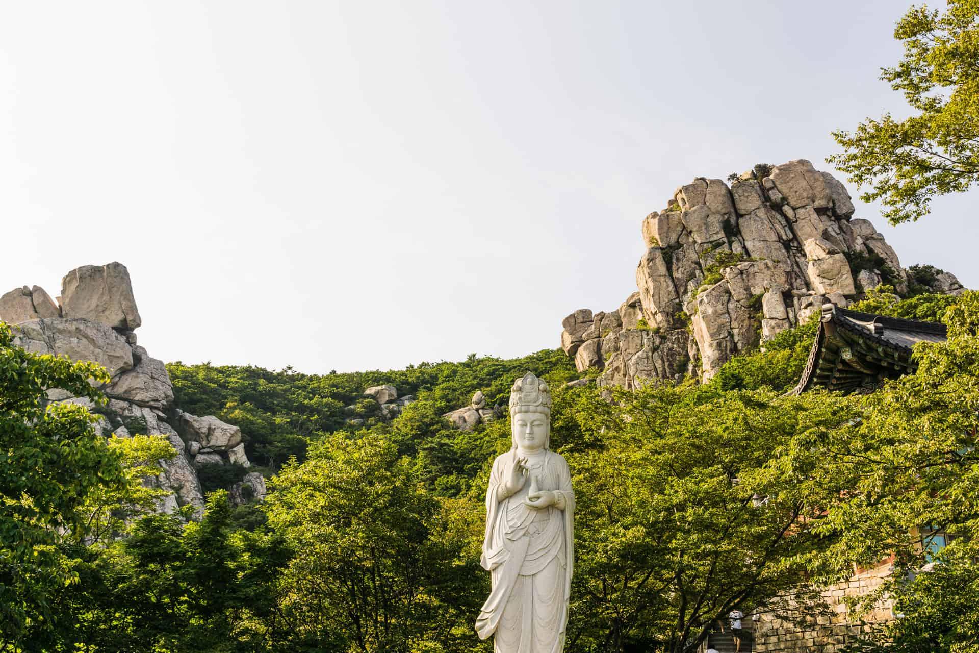 Boriam temple Namhae Island South Korea
