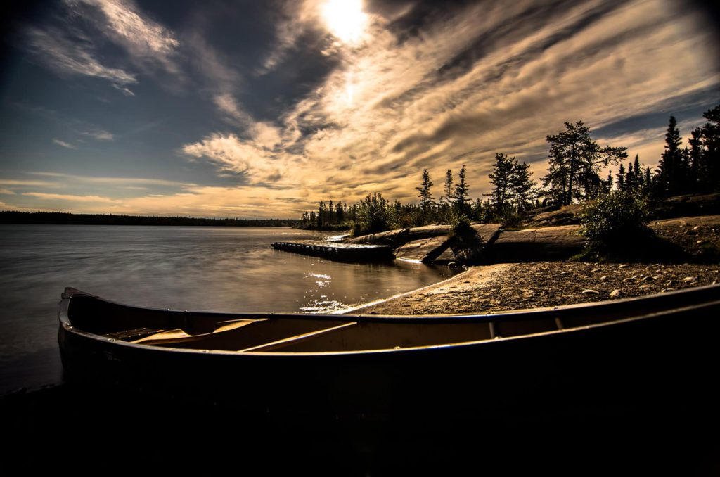 Canoe Lakeshore Great Bear Lake Nothwest Territories Canada