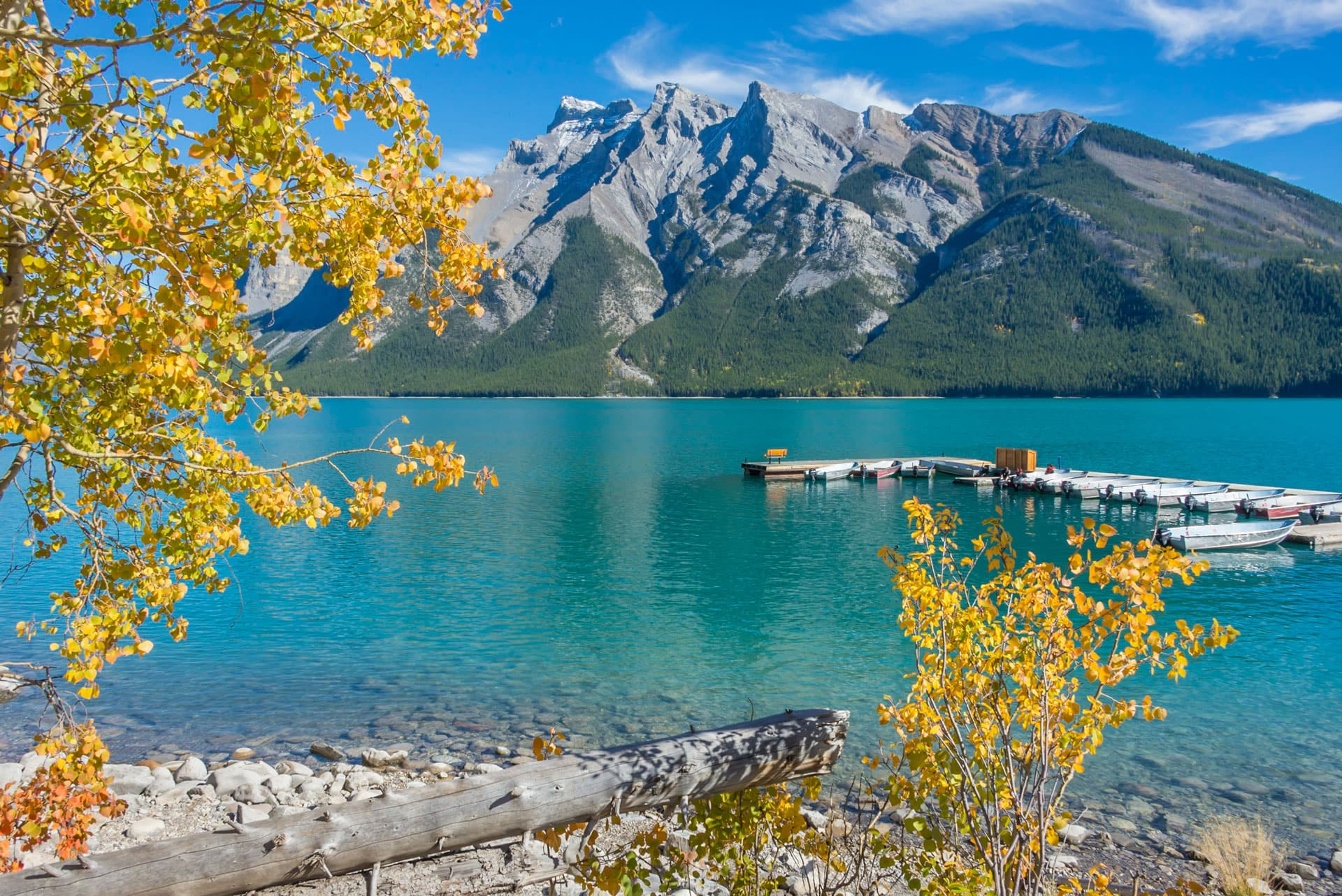 Lake Minnewanka Banff National Park Alberta Canada