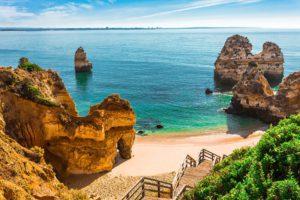 Praia Do Camilo Lagos Algarve Portugal