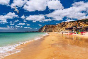 Praia de Porto de Mos Lagos Algarve Portugal